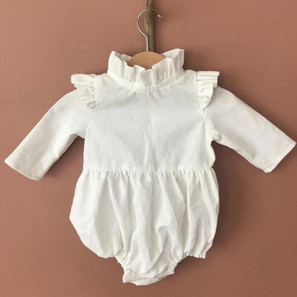 uzun kollu pamuklu bebek tulumu