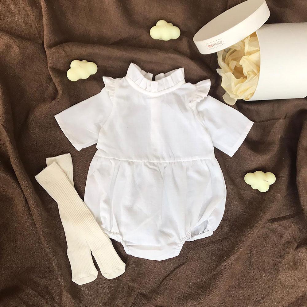 Beyaz Tulum + Çorap + Kutu Hediyeli Set Krem