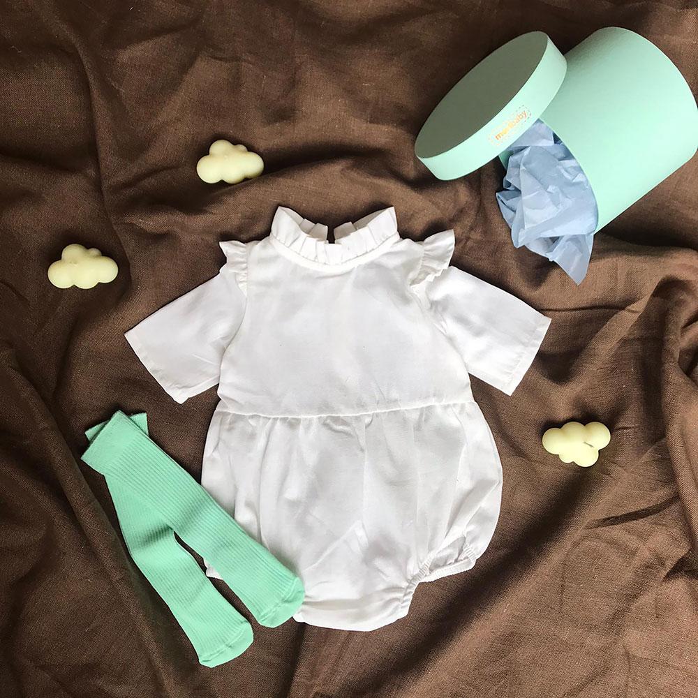 Beyaz Tulum + Çorap + Kutu Hediyeli Set Mint