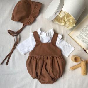 Tarçın Tulum Şapka Gömlek Bebek Hediye Seti