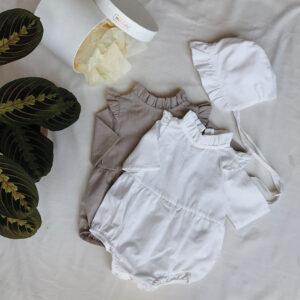 Bebek tulumu, şapka, dekoratif kutu, hediyelik set