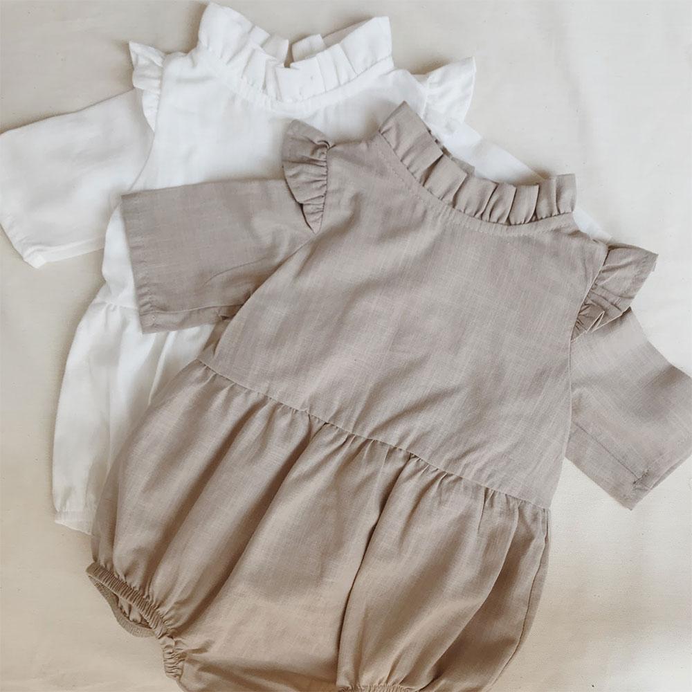 Meri Baby Pamuklu Bebek Tulumu 2li Set