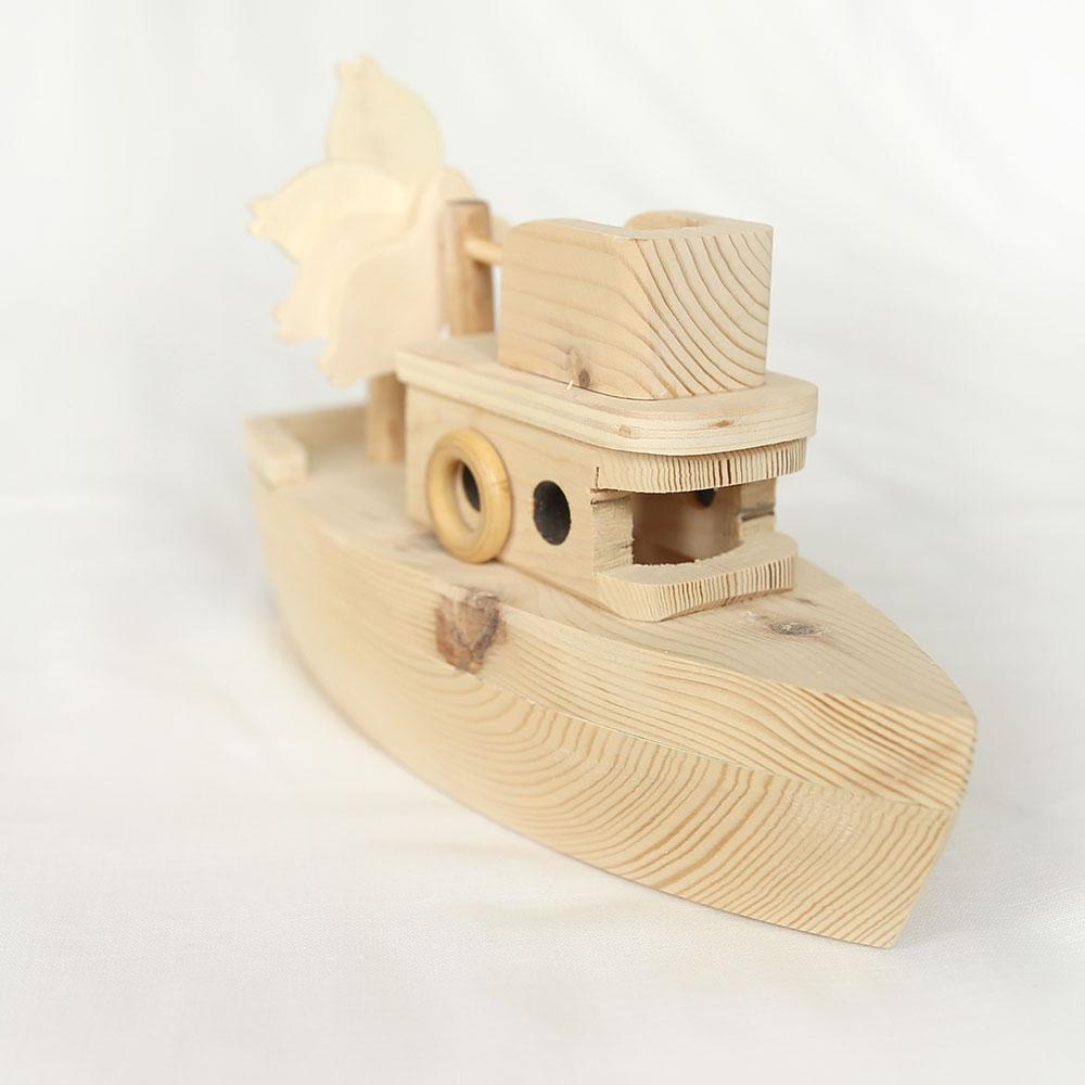 Ahşap Oyuncak Balıkçı Teknesi